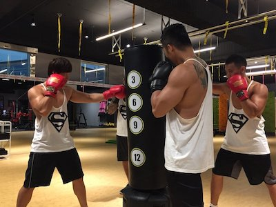 Fight fitness group class